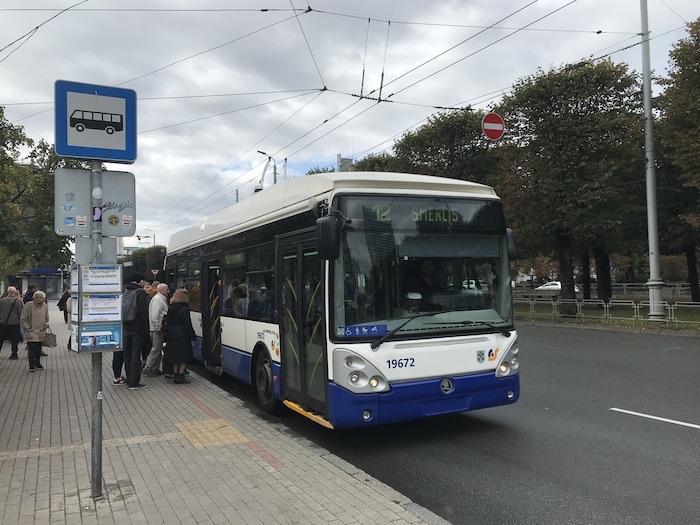 ラトビア リガ トローリーバス