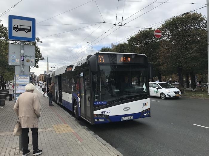 ラトビア リガ バス