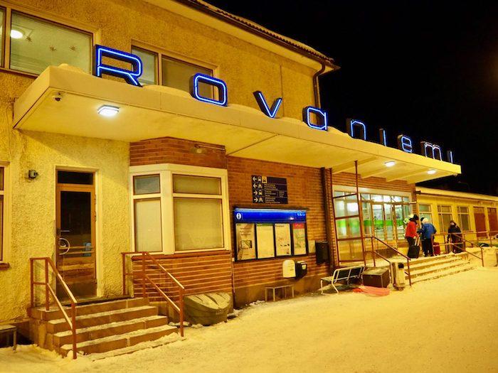 フィンランド ロヴァニエミ駅