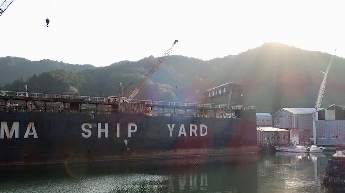 凪のあすから 造船所