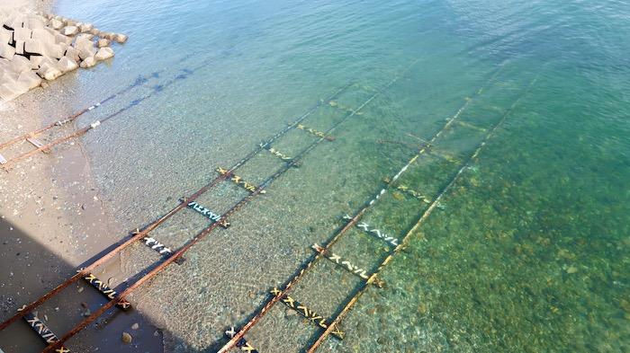 下灘駅 海に沈む線路